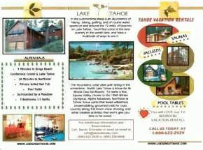 Lake Tahoe 4 U Brochure
